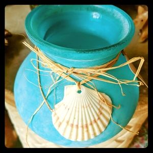 COASTAL BEACH AQUA BLUE VASE